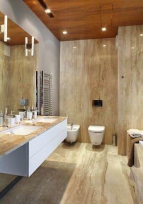 Ốp đá Daino toilet ( Vàng Hoàng Gia) 50-52 Hoa Phượng, Phường 2, Phú Nhuận, Tp.HCM